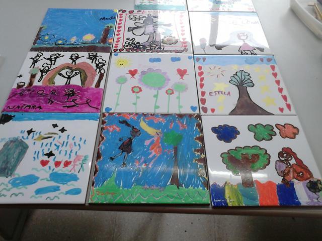 Azulejos pintados y kamishibai colegio altamira - Azulejos con dibujos ...